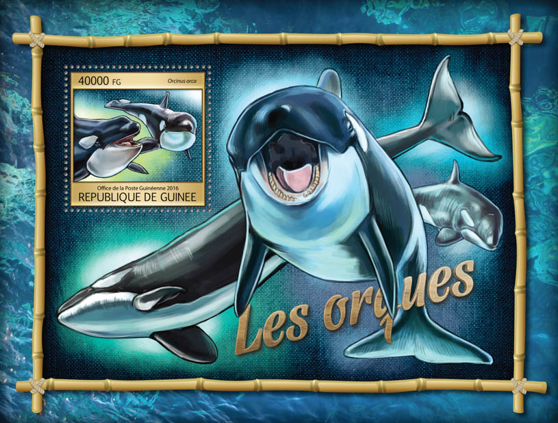 Orcas - Issue of Guinée postage stamps
