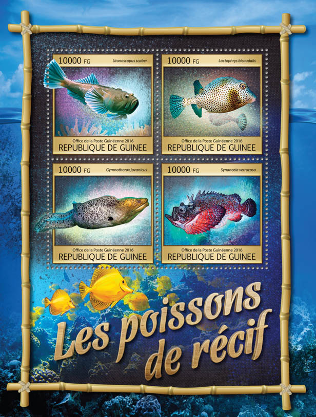 Reef fishes - Issue of Guinée postage stamps