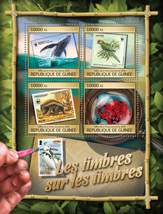 Stamps on stamps - Issue of Guinée postage stamps