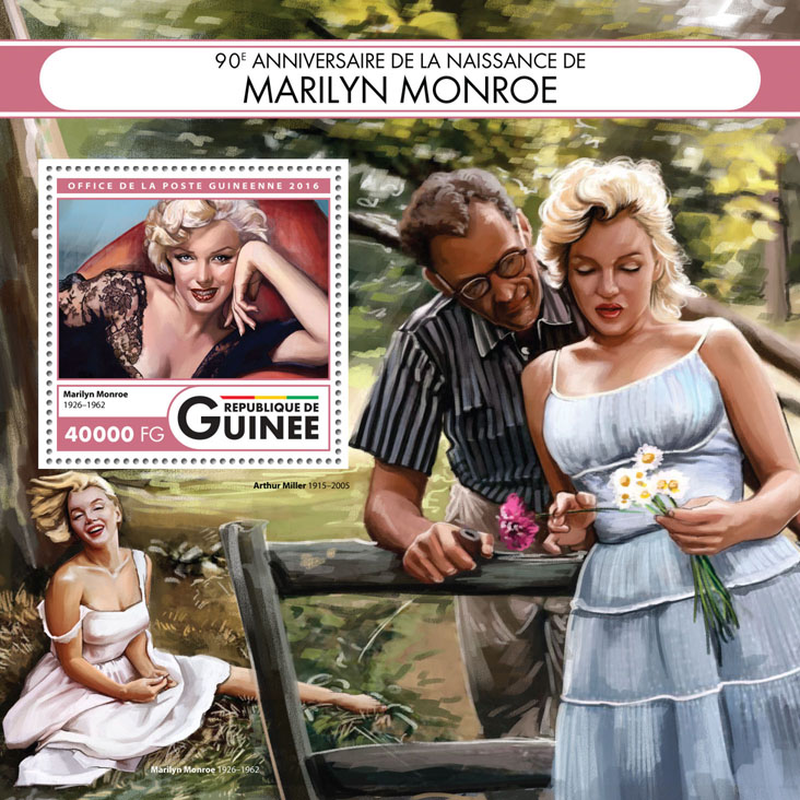 Marilyn Monroe - Issue of Guinée postage stamps