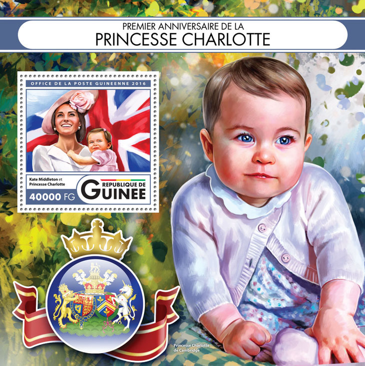 Princess Charlotte - Issue of Guinée postage stamps