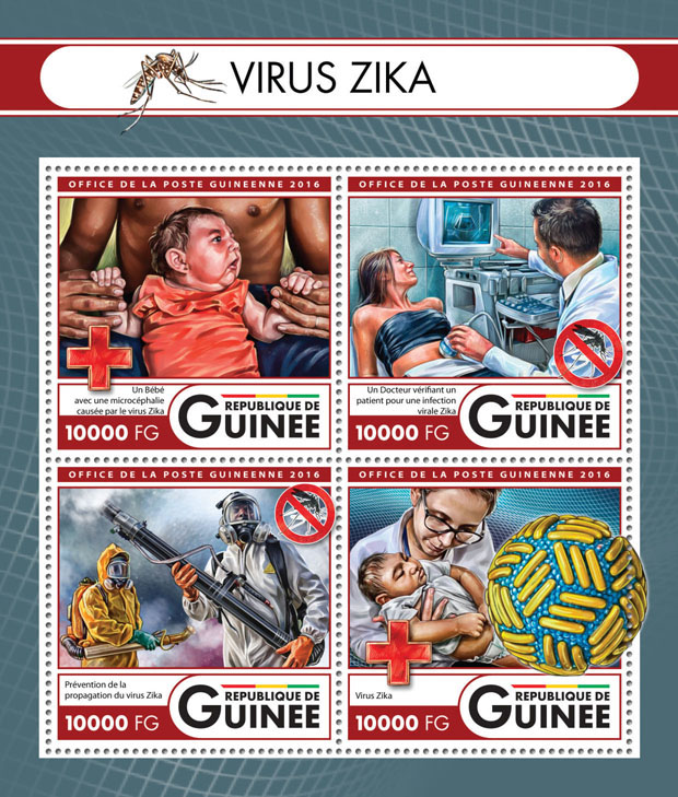 Zika virus - Issue of Guinée postage stamps