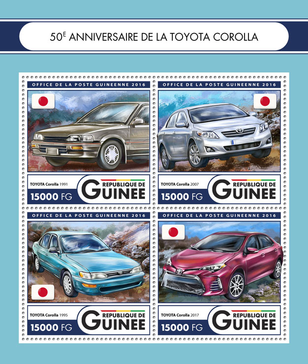 Toyota Corolla - Issue of Guinée postage stamps