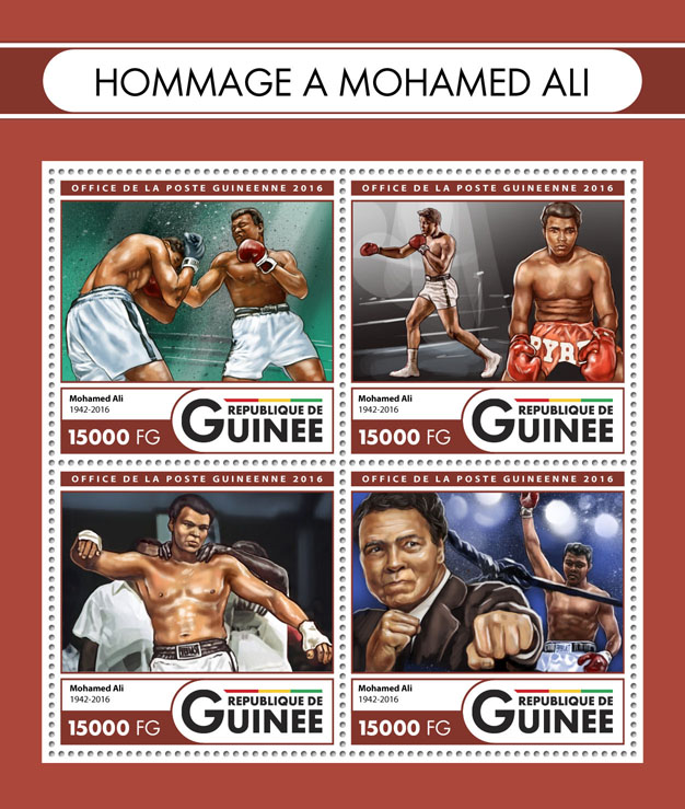 Muhammad Ali - Issue of Guinée postage stamps