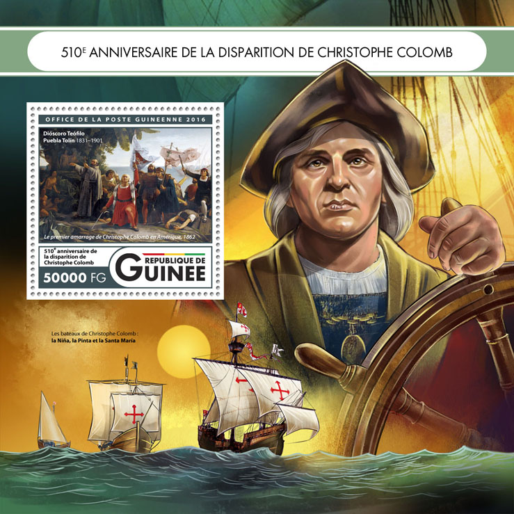 Cristopher Columbus - Issue of Guinée postage stamps