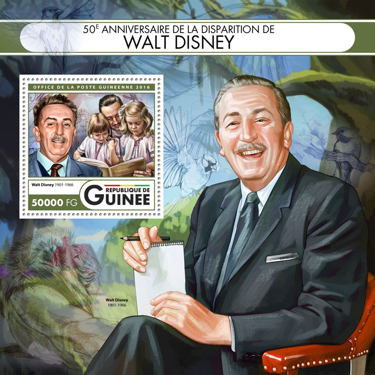 Walt Disney - Issue of Guinée postage stamps