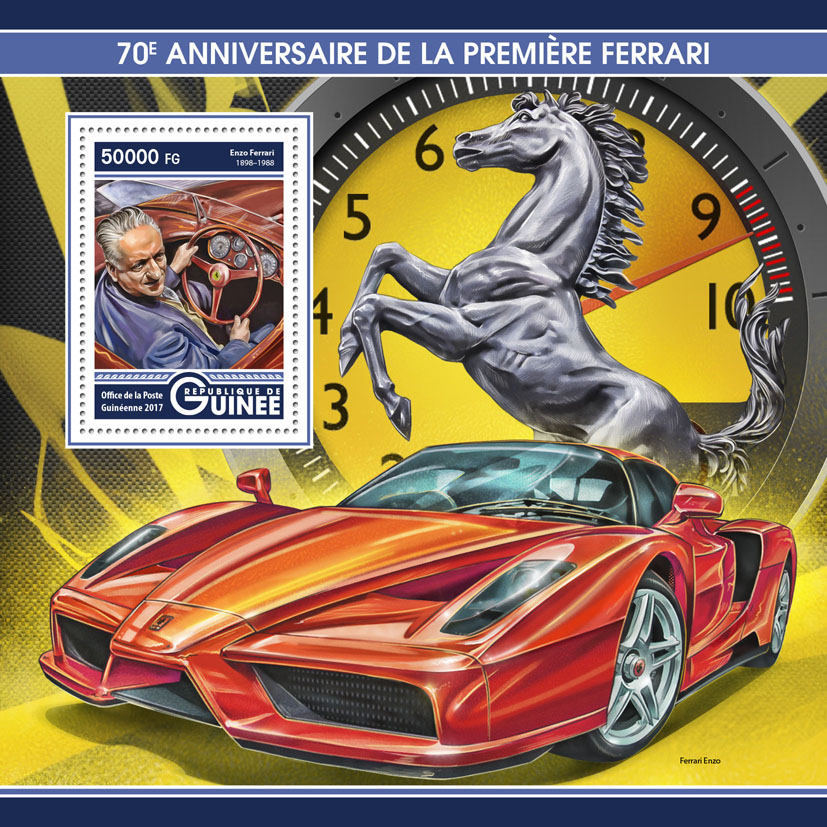 Ferrari - Issue of Guinée postage stamps