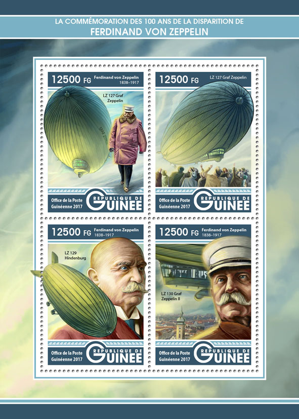 Zeppelin - Issue of Guinée postage stamps