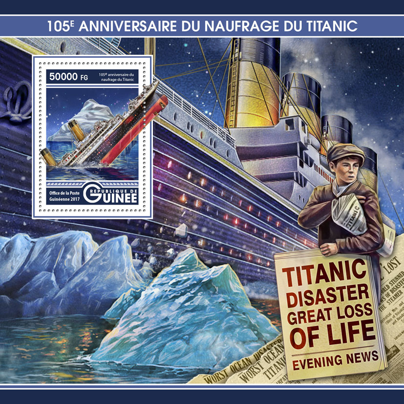 Titanic - Issue of Guinée postage stamps