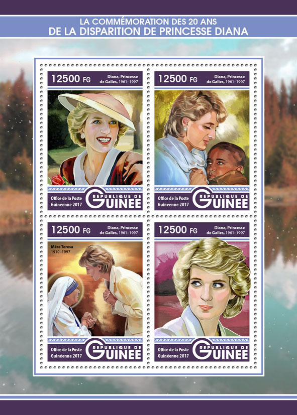 Princes Diana - Issue of Guinée postage stamps