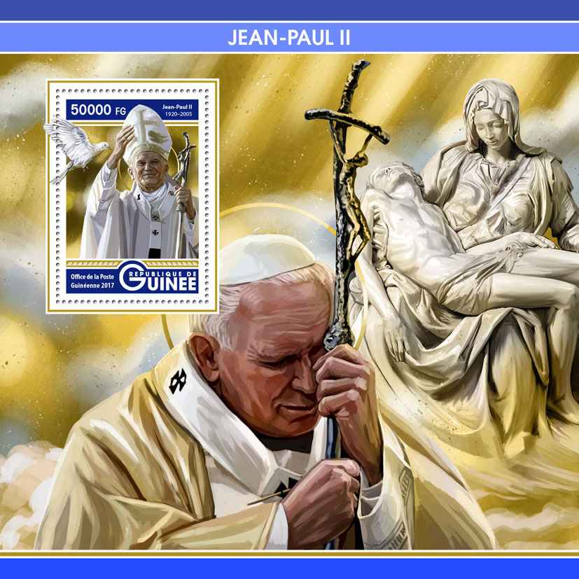 John-Paull II - Issue of Guinée postage stamps