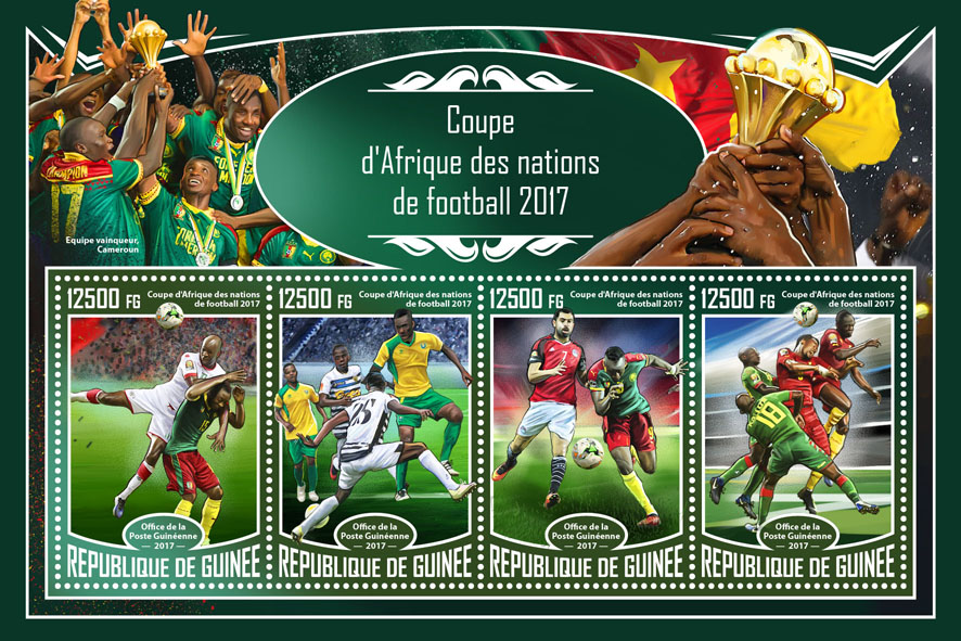 Africa Cup - Issue of Guinée postage stamps