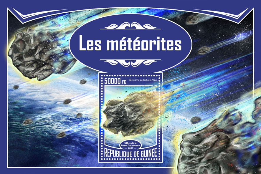 Meteorites - Issue of Guinée postage stamps