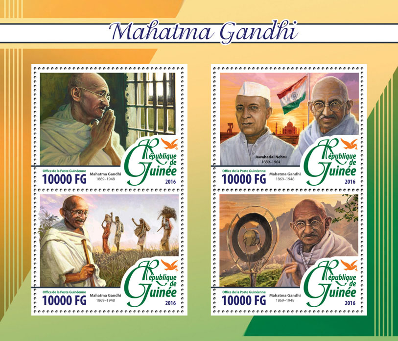 Mahatma Gandhi - Issue of Guinée postage stamps