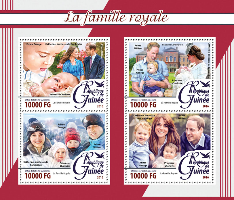 Royal Family - Issue of Guinée postage stamps
