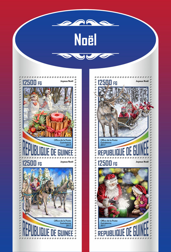 Christmas - Issue of Guinée postage stamps