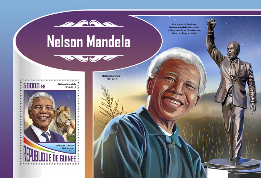 Nelson Mandela - Issue of Guinée postage stamps