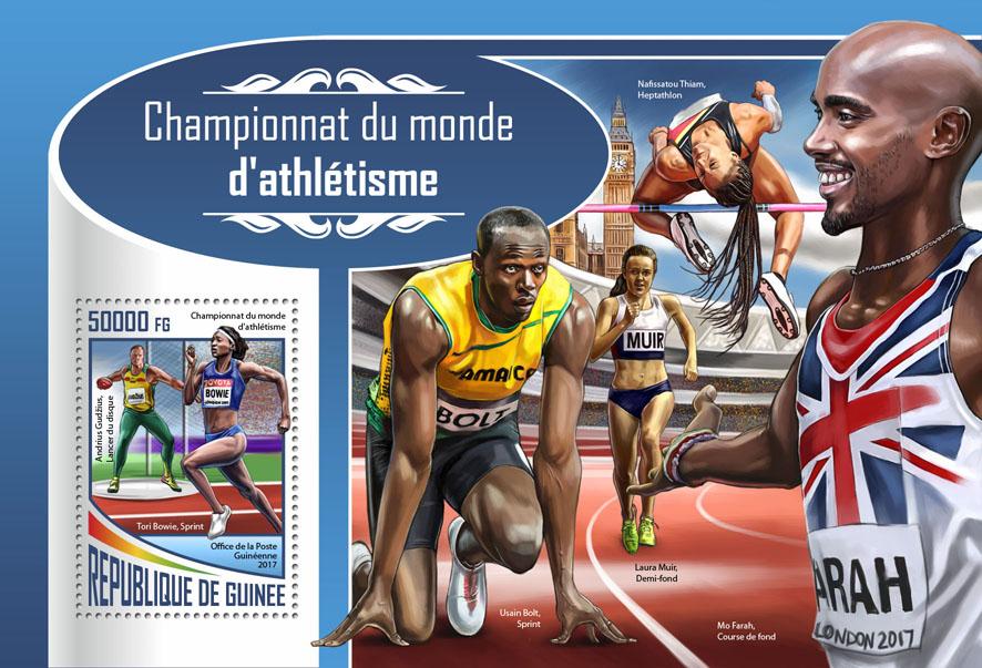 Athletics - Issue of Guinée postage stamps