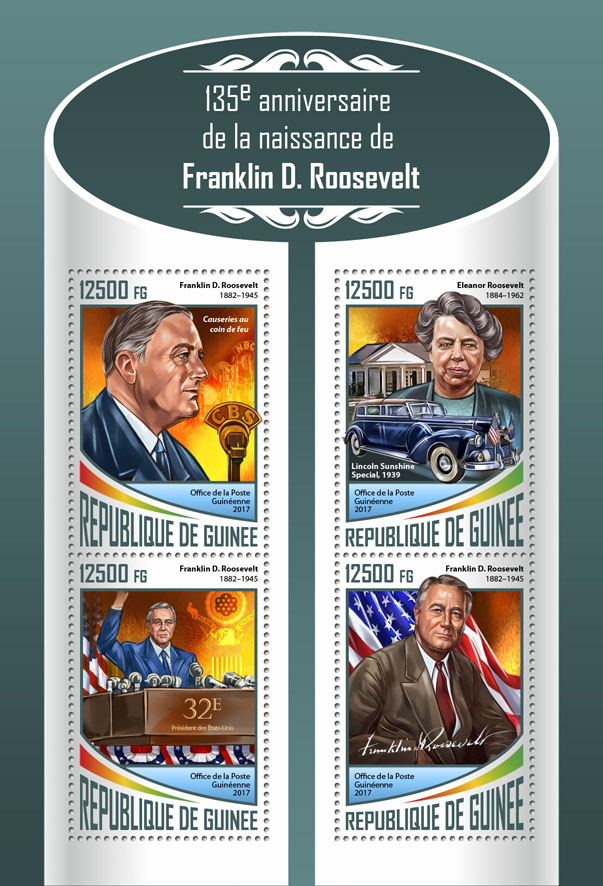 Franklin D. Roosevelt - Issue of Guinée postage stamps