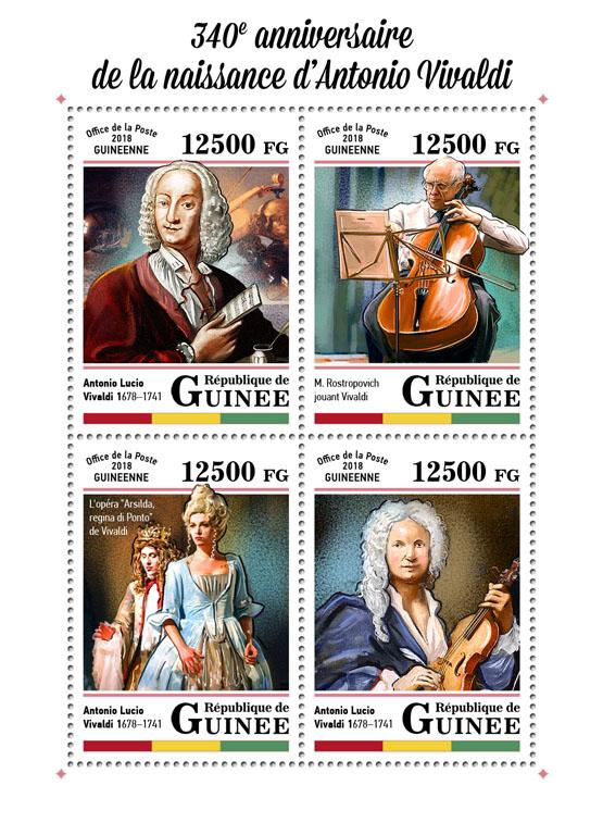 Antonio Vivaldi - Issue of Guinée postage stamps