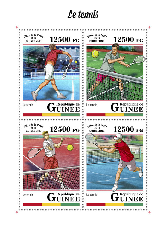 Tennis - Issue of Guinée postage stamps