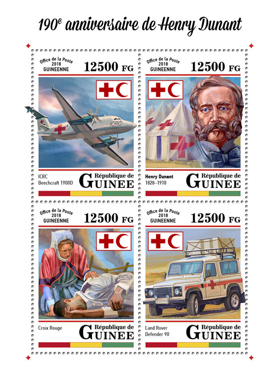 Henry Dunant - Issue of Guinée postage stamps