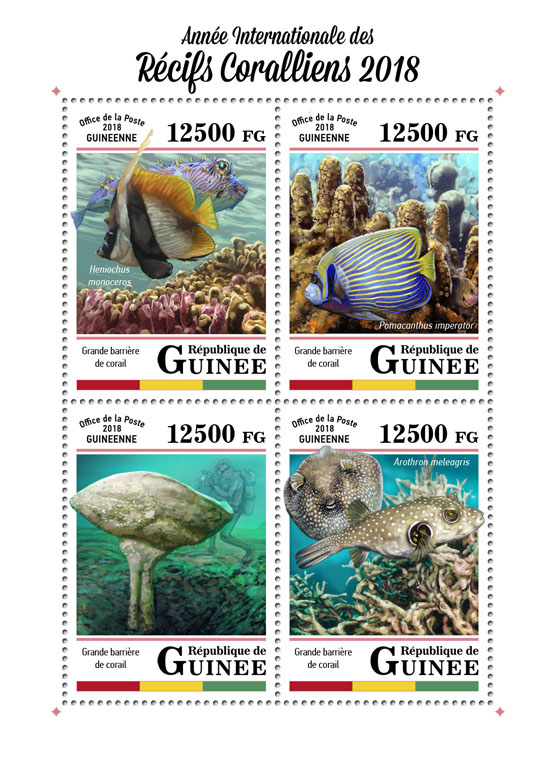 Year of the Reef - Issue of Guinée postage stamps