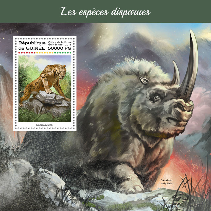 Extinct species - Issue of Guinée postage stamps