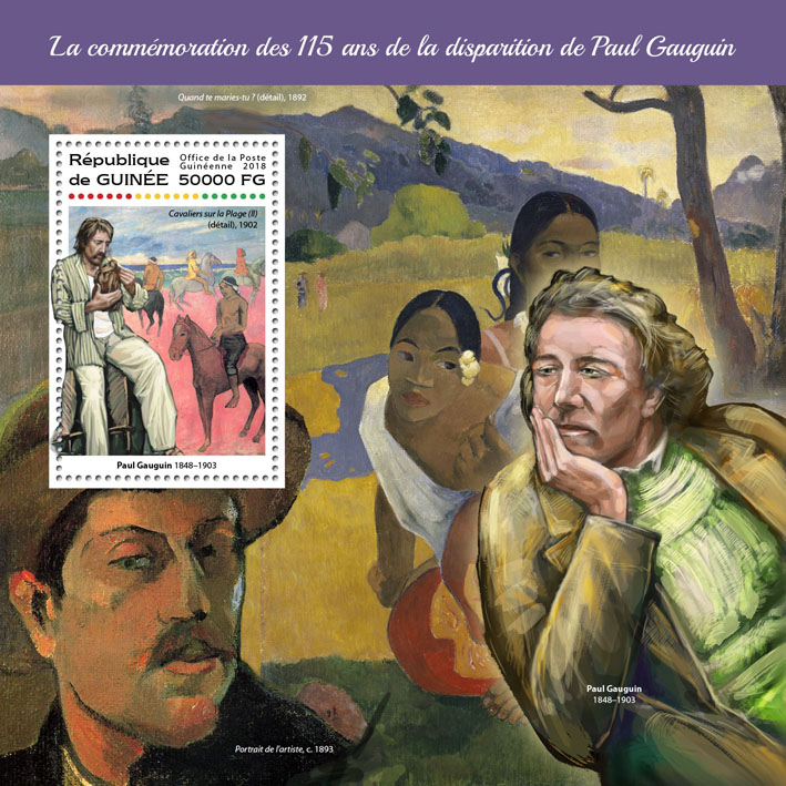 Paul Gauguin - Issue of Guinée postage stamps