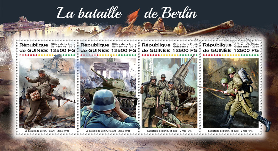 Battle of Berlin - Issue of Guinée postage stamps