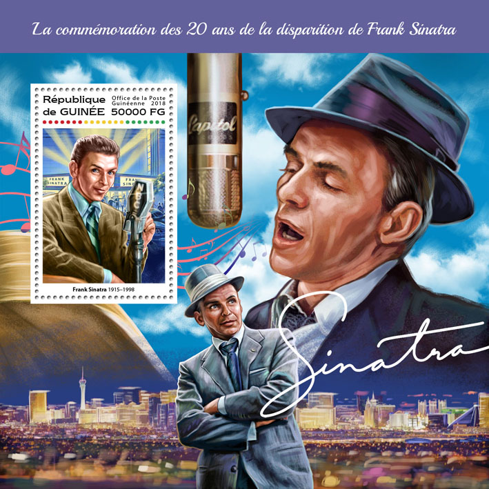 Frank Sinatra - Issue of Guinée postage stamps