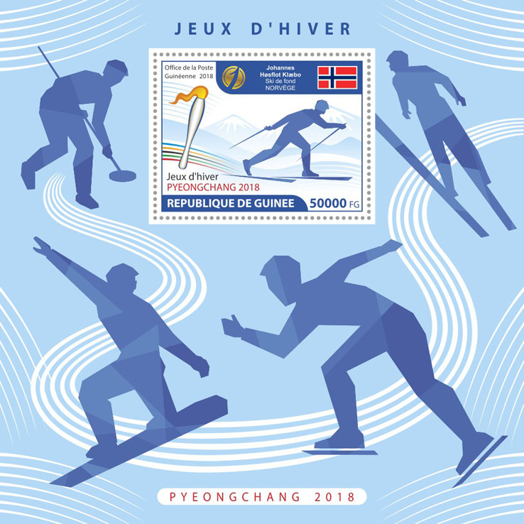 Winter Games 2018 - Issue of Guinée postage stamps