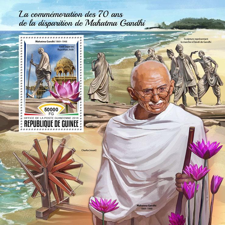 Mahatma Gandhi - Issue of Guinée postage stamps