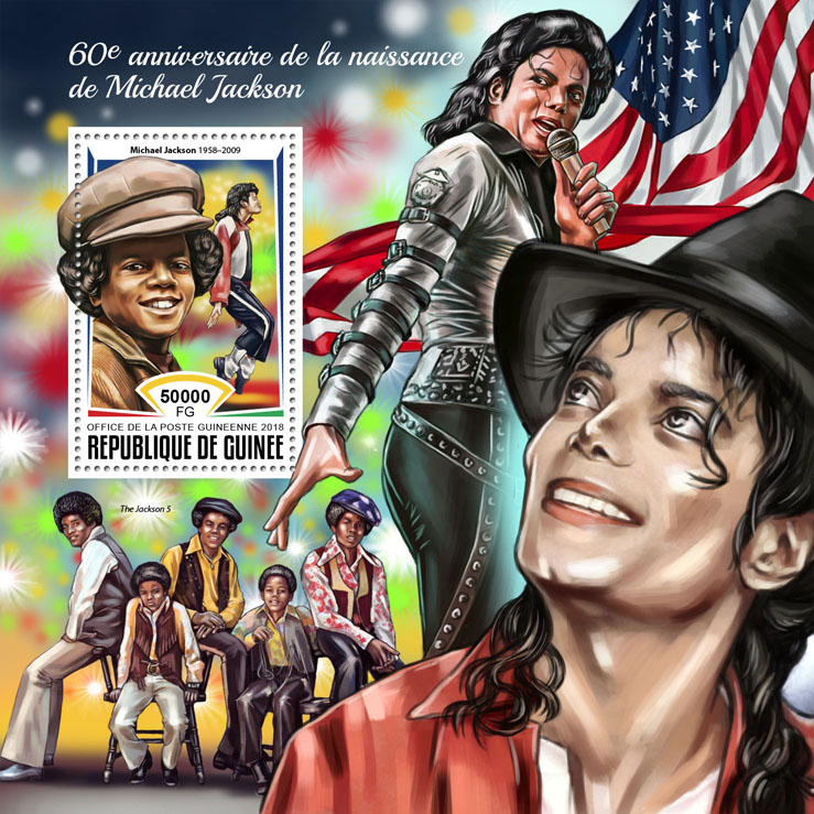 Michael Jackson - Issue of Guinée postage stamps