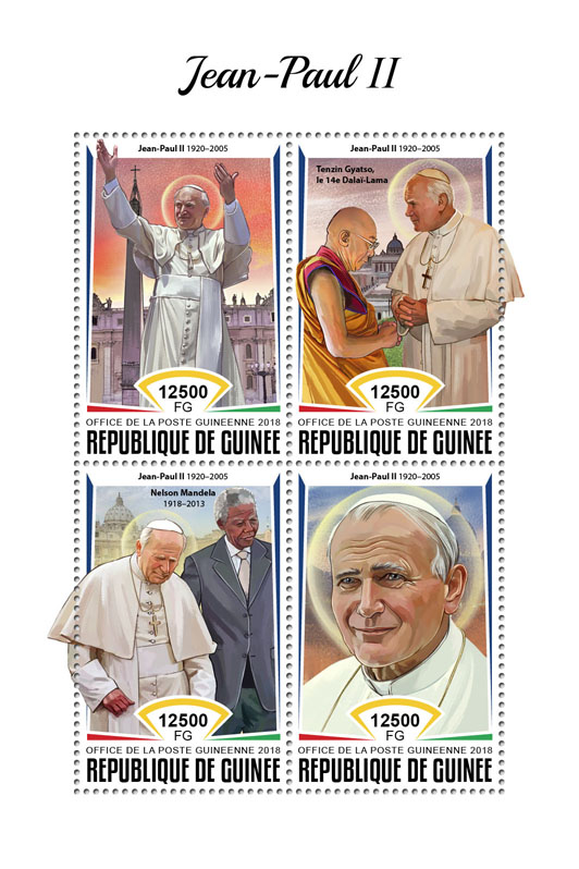 John-Paul II - Issue of Guinée postage stamps