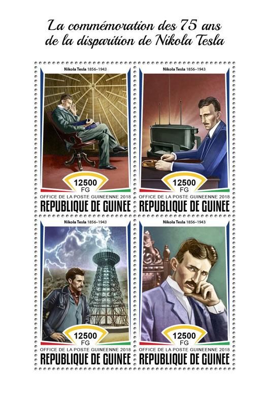 Nikola Tesla - Issue of Guinée postage stamps