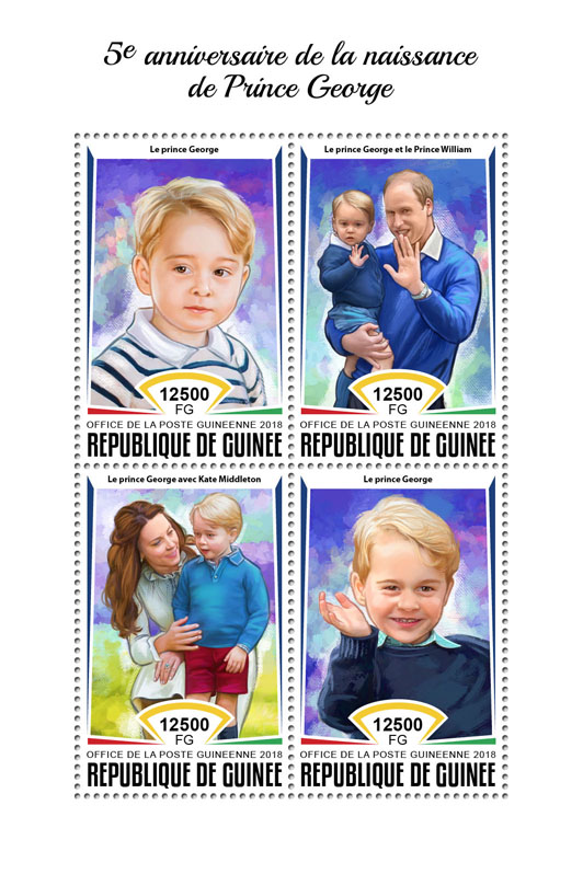 Prince George - Issue of Guinée postage stamps
