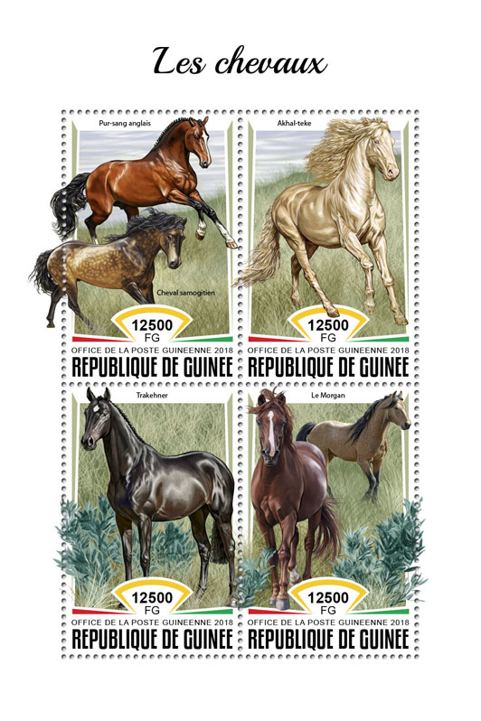 Horses - Issue of Guinée postage stamps