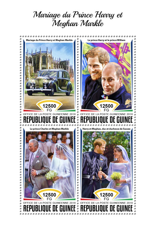 Wedding of Prince Harry and Meghan Markle - Issue of Guinée postage stamps