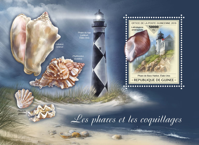 Lighthouses and shells - Issue of Guinée postage stamps