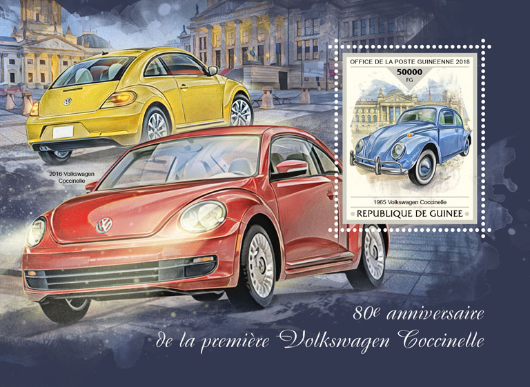 Volkswagen Beetle - Issue of Guinée postage stamps