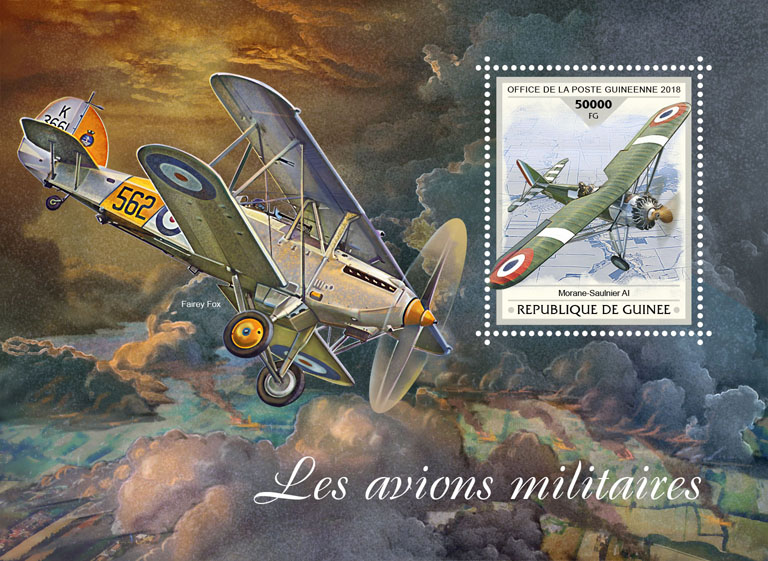 Military planes - Issue of Guinée postage stamps