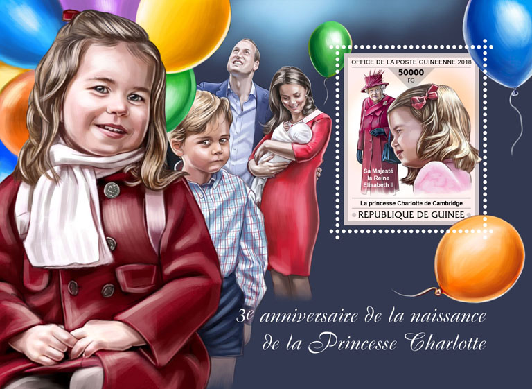 Prince Charlotte - Issue of Guinée postage stamps