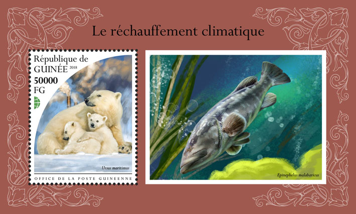Global warming - Issue of Guinée postage stamps