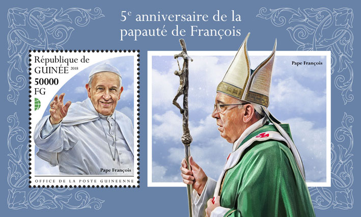 Francis - Issue of Guinée postage stamps