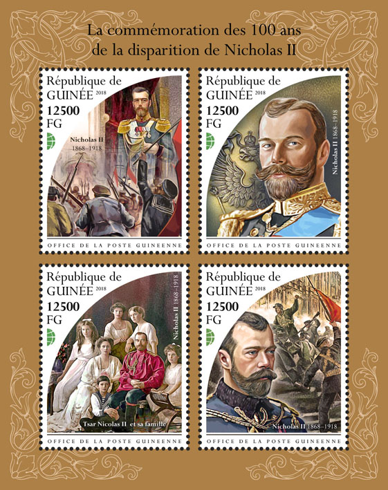 Nicholas II - Issue of Guinée postage stamps