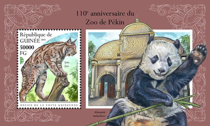 Pekin Zoo - Issue of Guinée postage stamps