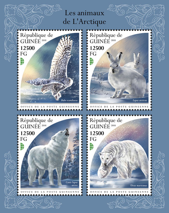 Arctic animals - Issue of Guinée postage stamps
