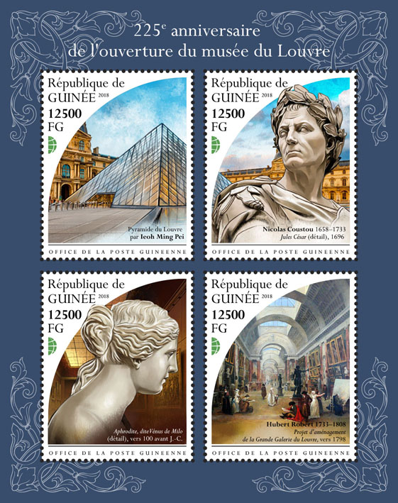 Opening of Louvre - Issue of Guinée postage stamps