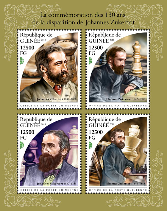 Johannes Zukertot - Issue of Guinée postage stamps